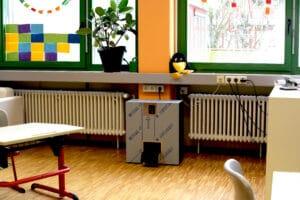 Luftfilter im Klassenzimmer SRH Schulen