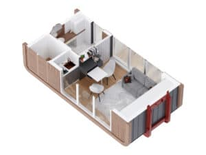 3D Modell eines Hauses